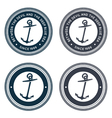 Nautical emblem with anchor vector