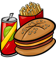 Fast food cartoon clip art vector