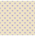 Tile violet polka dots on beige background vector