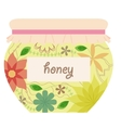 Vintage honey jar vector