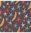Seamless pattern with stars and moons endless vector
