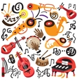 Musical instruments - doodles set vector