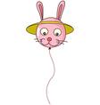 A bunny-shaped balloon vector