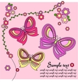 Pink background with butterflies vector
