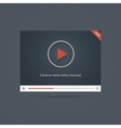 Flat video player template win new label vector