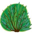Cartoon bush isolated vector