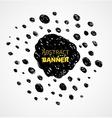 Abstract black scribble dots circle frame banner vector