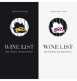 Wine list or menu vector