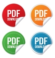 Pdf download icon upload file button vector