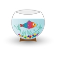 Aquarium with fish isolated vector