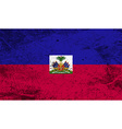 Flag of haiti with old texture vector