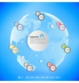 Infographic with colored circles for business vector