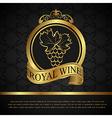 Golden label for packing wine vector