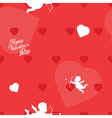 Bright red valentine s day seamless background vector