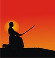 Samurai silhouettes vector