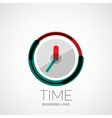 Clock time company logo business concept vector