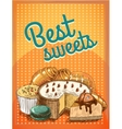 Best sweets pastry poster vector