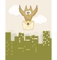 Cute flying owl vector