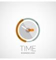 Clock time company logo business concept vector