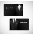 Businessman suit card set vector