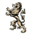 Heraldry lion drawn in engraving style vector