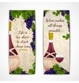 Wine banners vertical vector