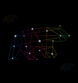 Bear abstract vector