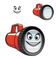 Big red torch or flashlight with a happy smile vector