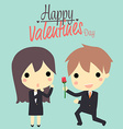 Cute couplebusiness vector