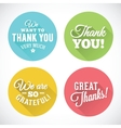 Thank you abstract flat style badges or icons vector