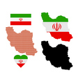 Map of iran vector