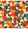 Retro geometric pattern with grunge texture vector