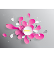 Abstract background with paper flower vector