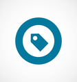 Tag bold blue border circle icon vector