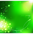 Spring green background with leaf vector