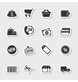 Market icons set as labels vector