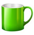 A big green mug vector