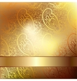 Gold elegant flower background with a lace pattern vector