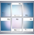 Abstract blue background triangle design  brochure vector