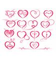 Set of symbol hearts vector