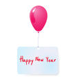 Balloon with happy new year tag vector