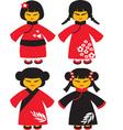 Asian dolls vector