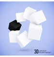 White and black cubes circle vector