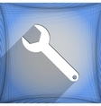 Wrench key icon symbol flat modern web design with vector