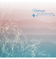 Abstract blue morning background vector