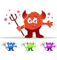Cute devil monster vector