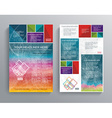 Brochure template design with bright cubes vector
