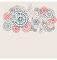 Pastel colors abstract pattern vector
