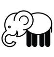 Cute animal elephant - vector