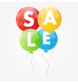 Color glossy balloons sale concept of discount vector